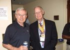 Hank Neill and Graham Johnson in Hospitality Suite